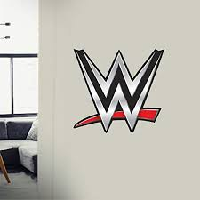 Amazon Com Juseny Sticker Wwe World Wrestling Logo Entertainment Wall Sticker Sticker Decal Boy Bedroom Decoration Car Sticker Home Kitchen