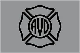 Handmade Products Firefighter Car Personalized Fire Department Maltese Cross Monogram Laptop Fire Sticker Window Decal Decals