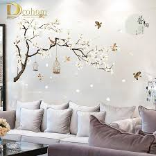 Chinese Style White Magnolia Wall Sticker Bird Flower Wall Decals Living Room Tv Background Decorative Full Moon Art Mural D19010902 Decals On Walls Decals Stickers From Mingjing01 10 3 Dhgate Com
