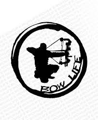 Bow Life Archer Circle Vinyl Decal