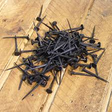 hand forged heart head blacksmith nails