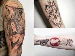 Tatuaz Wilk Galeria 38 Pomyslow Na Fantastyczny Wzor Etatuator Pl