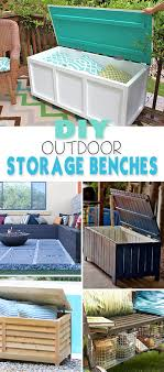 diy outdoor storage benches the