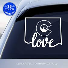 Amazon Com Colorado State Love Decal With Stylized Colorado Flag In Middle Of Decal Co Flag Love Car Vinyl Sticker Made With Outdoor Vinyl Handmade
