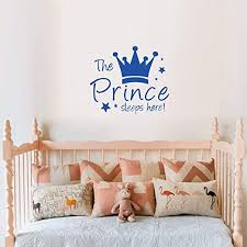 Amazon Com The Prince Sleeps Here Wall Decal Le Petit Prince Vinyl Stickers Decoration Nursery Kids Boys Baby Room Bedroom Wall Art Home Decor Home Kitchen