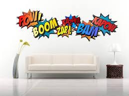 Superhero Comic Words Retro Kapow Boom Zap Bam Colour Wall Art Etsy