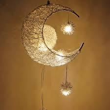 Moon Led Star Chandelier Bedroom Girl Room Kids Room Chandelier Modern Style Decor Pendant Lamp G4 Children Lustres Hanging Chandeliers Aliexpress