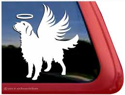 Memorial Golden Retriever Angel Dog Decals Stickers Nickerstickers