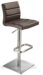 deluxe real leather bar stool