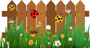 Insects Background Ladybugs On Garden Fence Decor Free Vector In Adobe Illustrator Ai Ai Format Encapsulated Postscript Eps Eps Format Format For Free Download 4 77mb