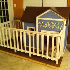 This Was A Fun Project Indoor Dog House With Fenced In Yard For Your Indoor Dogs Dog Houses Dog House Diy Diy Dog Stuff