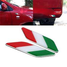 2 Pcs Italy Italian Flag Sticker Car Auto Side Fender Emblem Badge Decal Alloy Buy At A Low Prices On Joom E Commerce Platform