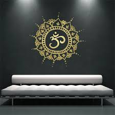 Mandala Om Vinyl Wall Art Decal