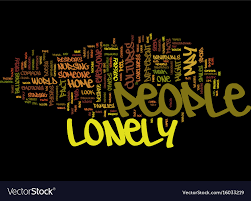 lonely people text background word