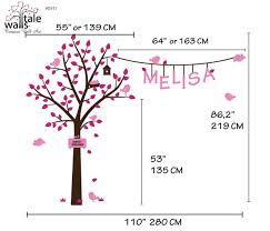 Nursery Tree Wall Decal With Name And Birds
