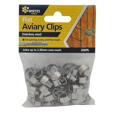 Whites Flat Aviary Clips 200 Pack Bunnings Warehouse