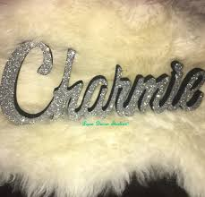 Glittered Name Word Signs Kids Personalized Wooden Name Signs Children S Name Wall Decor Wooden Letters Wooden Names Wall Letter Name Name Decorationname Letters Aliexpress