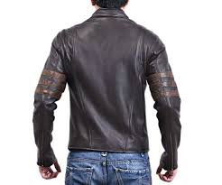 wolverine leather jacket for men in