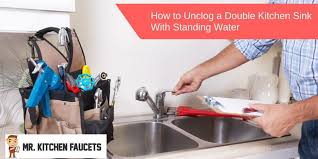 kitchen sink with standing water