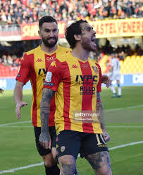 Nicolas Viola of Benevento Calcio celebrates after scoring the ...