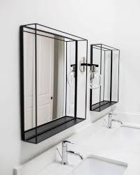 black metal box frame vanity mirrors