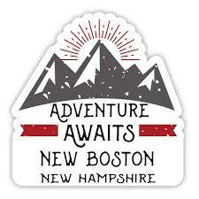 New Boston New Hampshire Souvenir 4 Inch Vinyl Decal Sticker Adventure Awaits Design Walmart Com Walmart Com