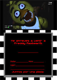 Five Nights At Freddy S Invitaciones Invitaciones Invitaciones