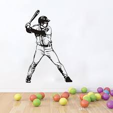 Removable Baseball Player Vinyl Wall Sticker Sports Wall Poster Home Decor Sports Kids Room Baseball Decal Home Art Mural Fairy Wall Stickers Fish Wall Decals From Joystickers 10 4 Dhgate Com