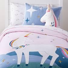girls unicorn bedding crate and