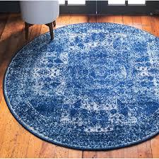 pat oriental navy blue area rug