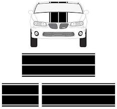 Amazon Com Pontiac G6 G8 Gto Grand Prix Grand Am Dual Rally Racing Stripes Vinyl Decals Computers Accessories