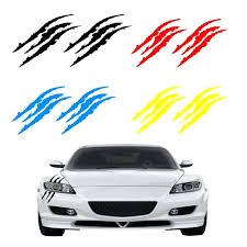 Claw Decal Vinyl Car Sticker Sports Personality Decorative Scratch Monster Marks Black White Mark Decals Us Off Decor Toqueglamour