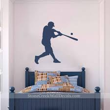 Baseball Player Wall Decal Baseball Wall Art Baseball For Etsy