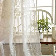 High Grade European Embroidery Sheer Curtains For Living Room Bedroom Kichen And Dining Room Curtain Swags Dupioni Silk Curtains From Daisy433 8 55 Dhgate Com