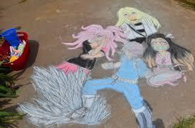 Coronavirus: Amid shelter-in-place, Wichita Falls girl tries chalk art
