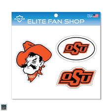 Oklahoma State Cowboys 6 Vinyl Decal 3 Pack