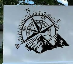 Rv Decal Compass Decal Truck Trailer Decal Travel Compass Vinyl Sticker Sign Ebay