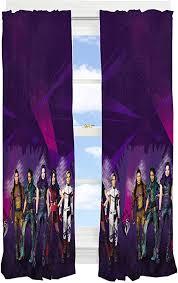 Amazon Com Franco Kids Room Window Curtain Panels Drapes Set 82 X 63 Disney Descendants 3 Home Kitchen