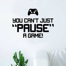 Ps4 Ps3 Playstation Wall Art Sticker Vinyl Decal You Can T Just Pause A Game