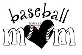 Baseball Mom Decal Cherry Blossom Handmade