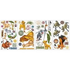 Disney Lion King Wall Decals Simba Pumbaa Peel Stick Kids Room Decor Stickers Walmart Com Walmart Com