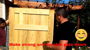 Fence Gate Construction Diy How To Make A Door Youtube