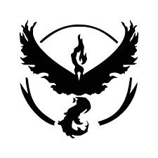 Pokemon Go Inspired Team Valor Emblem Vinyl Decal Catch Them Etsy