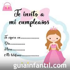 Invitacion De Cumpleanos Con Dibujos De Princesas De Fantasia