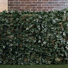 Dark Green Artificial Ivy Fence