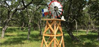 wooden windmill tower