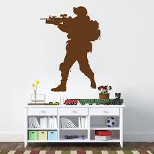 Ik731 Wall Decal Sticker Army Soldier Military Shooter Sniper Vest Stickersforlife