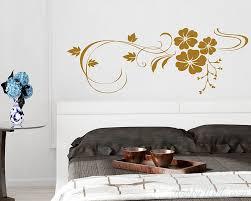 Beautiful Flowers Wine Vinyl Wall Decals Modern Art