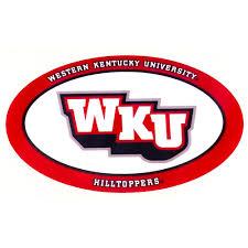 Western Kentucky Decal Oval Wku Logo 6