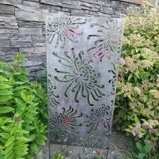 Flowerburst1 Metal Privacy Screen Decorative Panel Outdoor Etsy